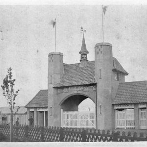 Peterborough Showground Entrance form the Past